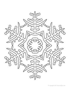 snowflake 1 coloring page