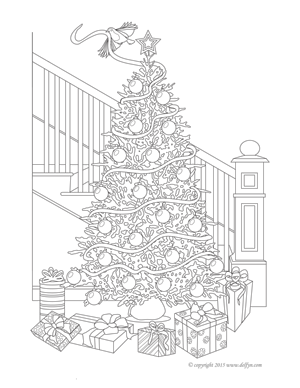 Free Printable Adult Coloring Pages | Delfyn Studios